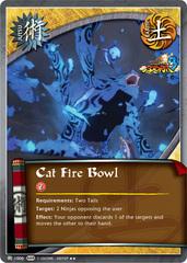 Cat Fire Bowl - J-1006 - Rare - Unlimited Edition - Foil
