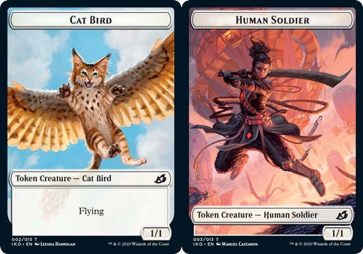 Cat Bird Token // Human Soldier Token (003) - Foil