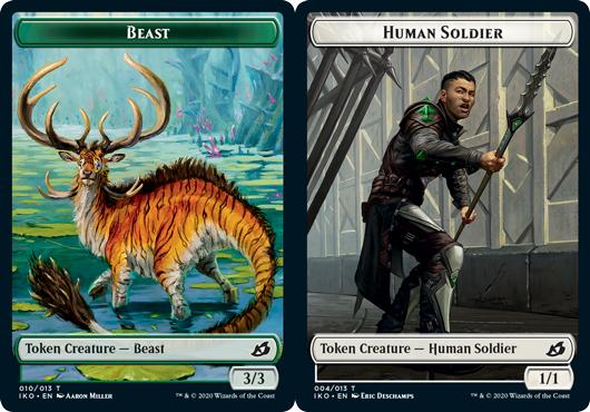 Beast Token // Human Solider Token (004) - Foil