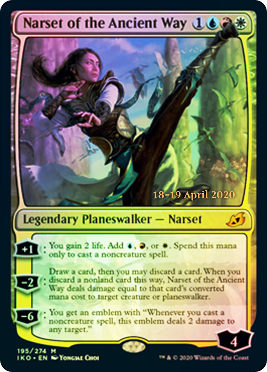 Narset of the Ancient Way - Foil - Prerelease Promo