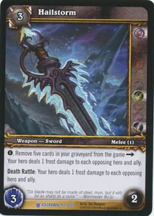Hailstorm Out Of Print Tcgs World Of Warcraft Tcg Wow Singles