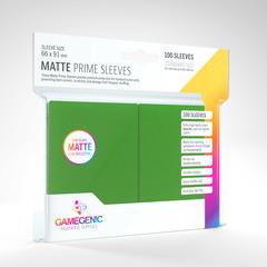 Gamegenic - Sleeves: Gamegenic Matte Prime Sleeves - Green (100)