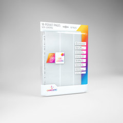 Gamegenic - 18 - Pocket Pages Side Loading - White - (10 pages bag)