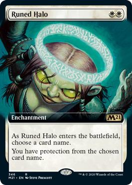 Runed Halo - Foil - Extended Art