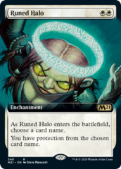 Runed Halo - Foil - Extended Art