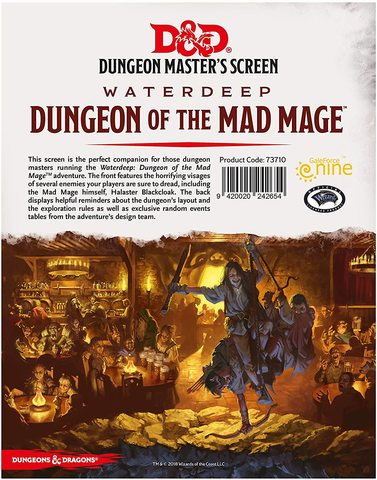 DM Screen Waterdeep Dungeon of the Mad Mage