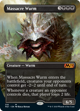 Massacre Wurm - Alternate Art