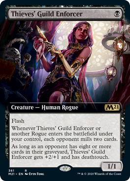 Thieves Guild Enforcer - Foil - Extended Art