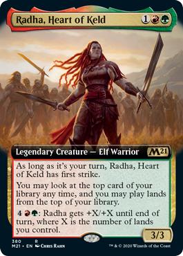 Radha, Heart of Keld - Foil - Extended Art