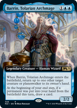 Barrin, Tolarian Archmage - Extended Art