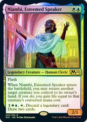 Niambi, Esteemed Speaker - Foil - Prerelease Promo