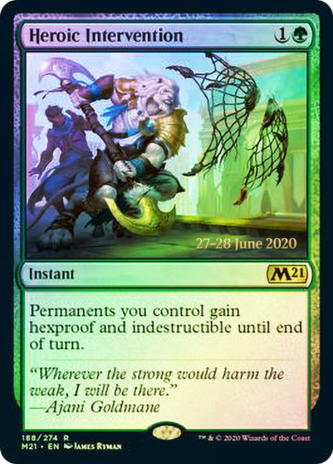 Heroic Intervention - Foil - Core Set 2021 Prerelease Promo