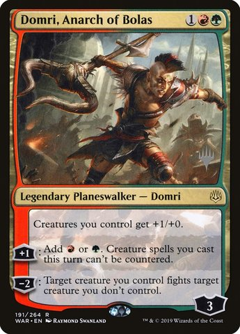 Domri, Anarch of Bolas - Foil - Promo Pack - Magic Singles ...