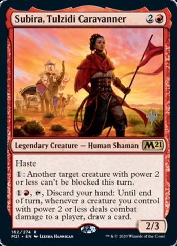 Subira, Tulzidi Caravanner - Foil - Promo Pack - Magic ...