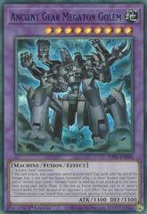 Ancient Gear Megaton Golem (Blue) - LDS1-EN088 - Ultra Rare - 1st Edition