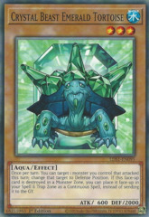 Crystal Beast Emerald Tortoise - LDS1-EN095 - Common - 1st Edition
