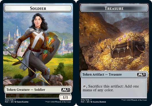 Soldier Token // Treasure Token - Foil
