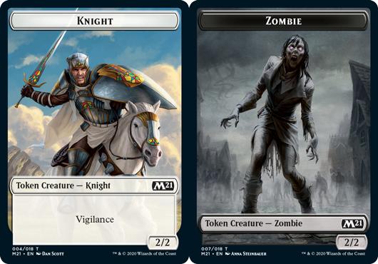 Knight Token // Zombie Token - Foil