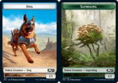 Dog Token // Saproling Token - Foil