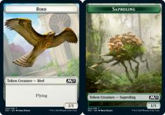 Bird (002) // Saproling (012) Token - Foil
