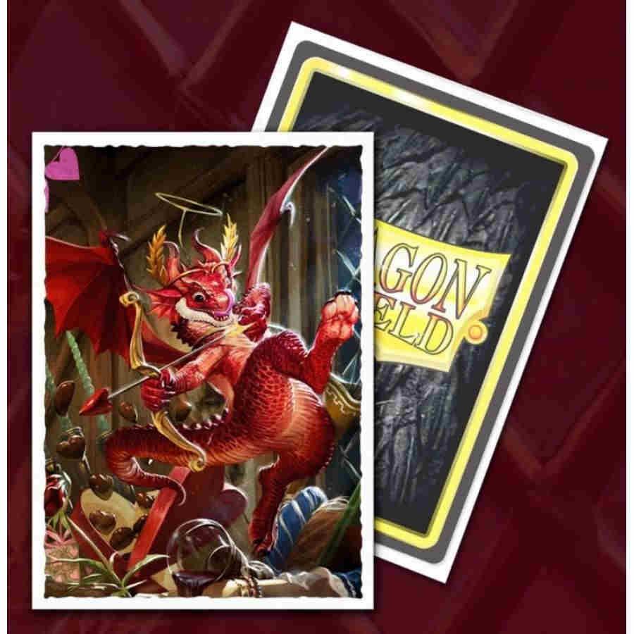 Dragon Shield Sleeves: Art Matte 2020 Valentines Dragon (Box of 100) - Limited Edition