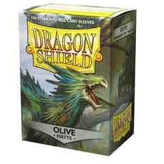Dragon Shield - Matte Olive 100 Count Standard Sleeves