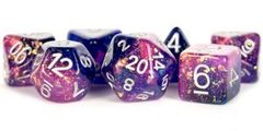 Metallic Dice 16mm Resin Purple/Blue Poly Dice Set