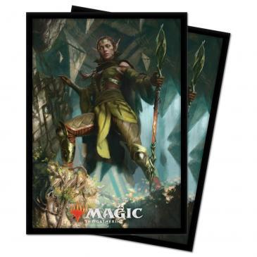 Ultra Pro - Zendikar Rising: Standard Deck Protector sleeves 100ct for Magic: The Gathering Nissa of Shadowed Boughs
