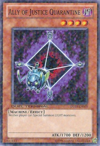 Ally of Justice Quarantine - DT03-EN079 - Parallel Rare - Duel Terminal