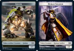 Golem Token // Human Soldier Token - Foil