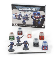 Space Marines: Assault Intercessors + Paints Set