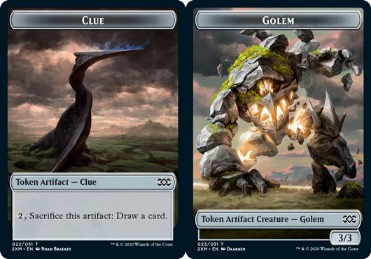 Clue Token // Golem Token - Foil