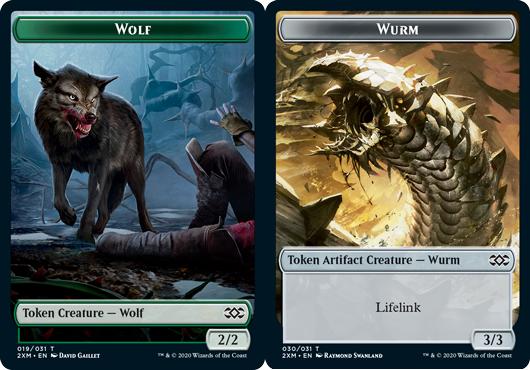 Wolf Token // Wurm Token (030) - Foil