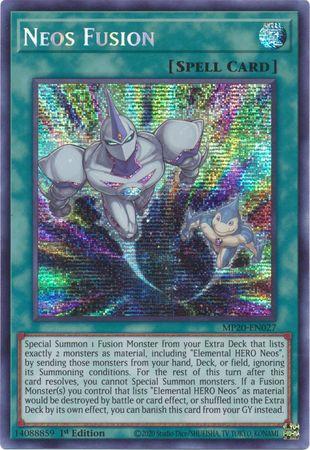 Neos Fusion - MP20-EN027 - Prismatic Secret Rare - 1st Edition