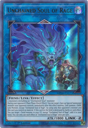 Unchained Soul of Rage - MP20-EN173 - Ultra Rare - 1st Edition