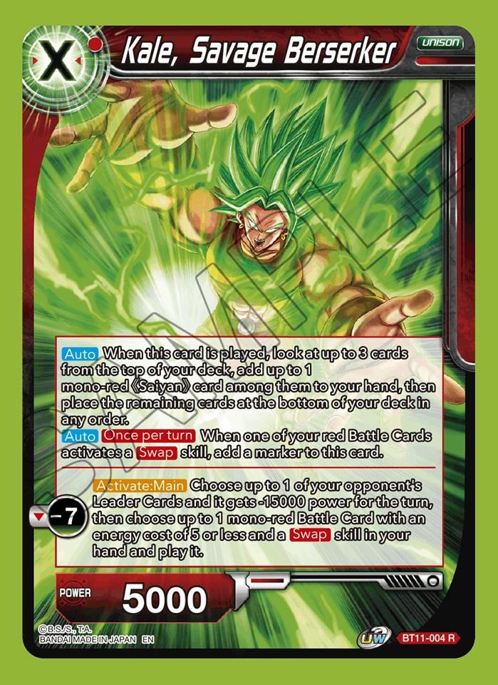 Kale, Savage Berserker - BT11-004 - R - Foil