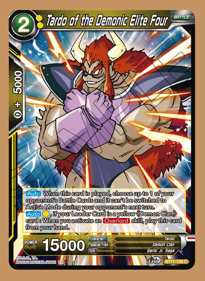 Tardo of the Demonic Elite Four - BT11-108