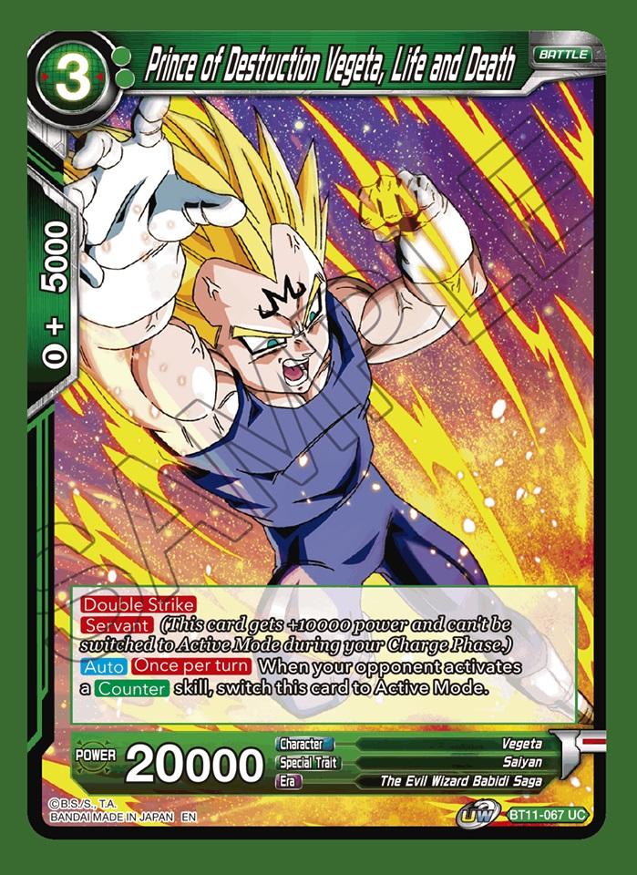 Prince of Destruction Vegeta, Life and Death - BT11-067 - UC - Foil