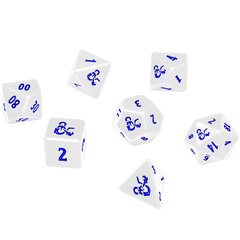 D&D Heavy Metal Icewind Dale 7-Die Set - White/Blue