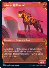 Akoum Hellhound (Showcase) - Foil (ZNR)