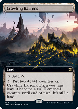 Crawling Barrens - Foil - Extended Art