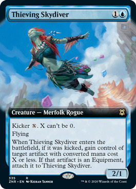 Thieving Skydiver - Foil - Extended Art