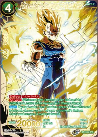 Prince of Destruction Vegeta, Prideful Warrior - BT11-066 - SPR