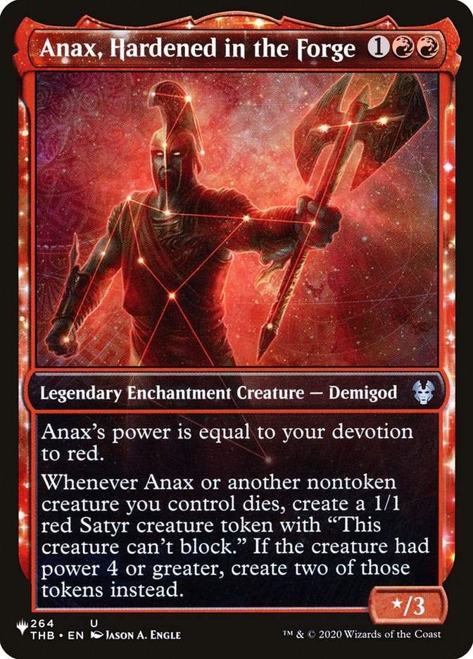 Anax, Hardened in the Forge - The List