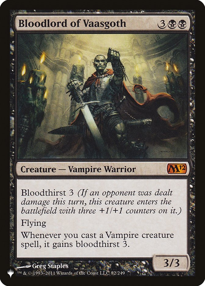 Bloodlord of Vaasgoth - The List