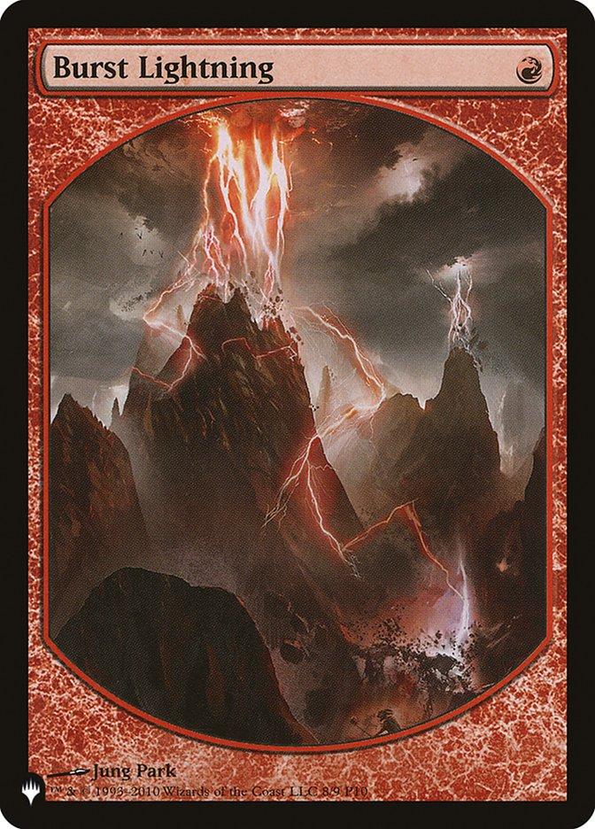 Burst Lightning - The List