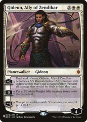 Gideon, Ally of Zendikar - The List