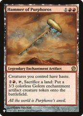 Hammer of Purphoros - The List