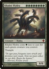 Khalni Hydra - The List