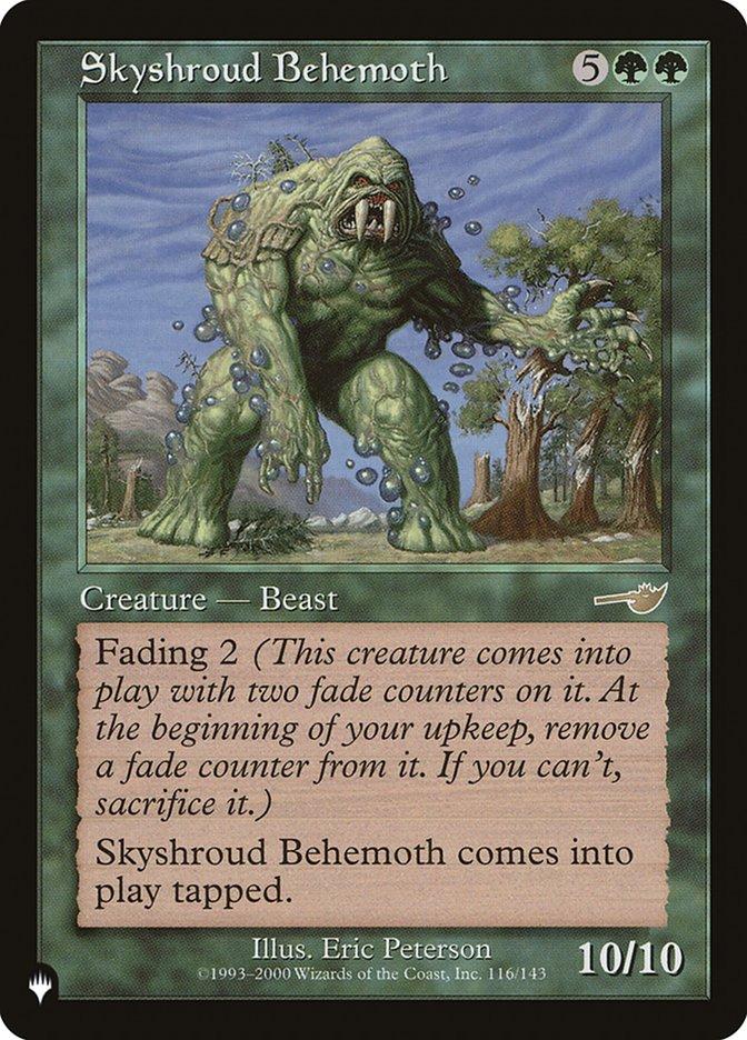 Skyshroud Behemoth - The List